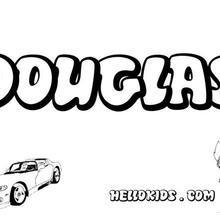 Douglas coloring page