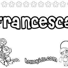 Francesca coloring page