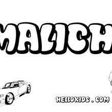 malichi coloring page