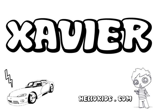 Xavier coloring pages Hellokids