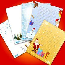 Modèles de lettre au Père Noël à imprimer Christmas writing paper