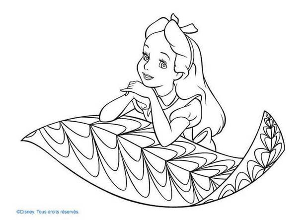 Alice  1 coloring page