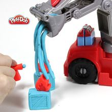Fire Truck Play-Doh craft for kids