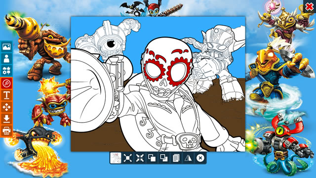 Creating a Skylanders coloring page Coloring Page