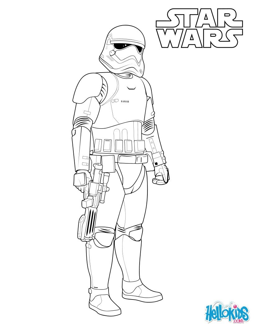 First order stormtrooper coloring pages - Hellokids.com