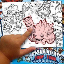 Creating a Skylanders Coloring Page