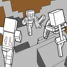 Minecraft coloring page - Dangerous Dungeon Fights