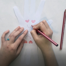 Valentine's Day Card craft for kids