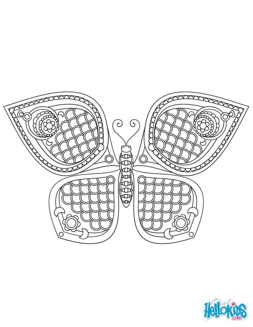 Butterfly Mandala worksheet
