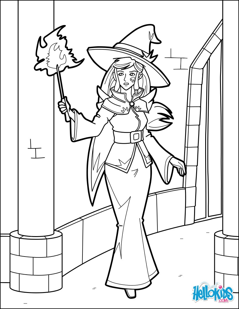 Light mage coloring page