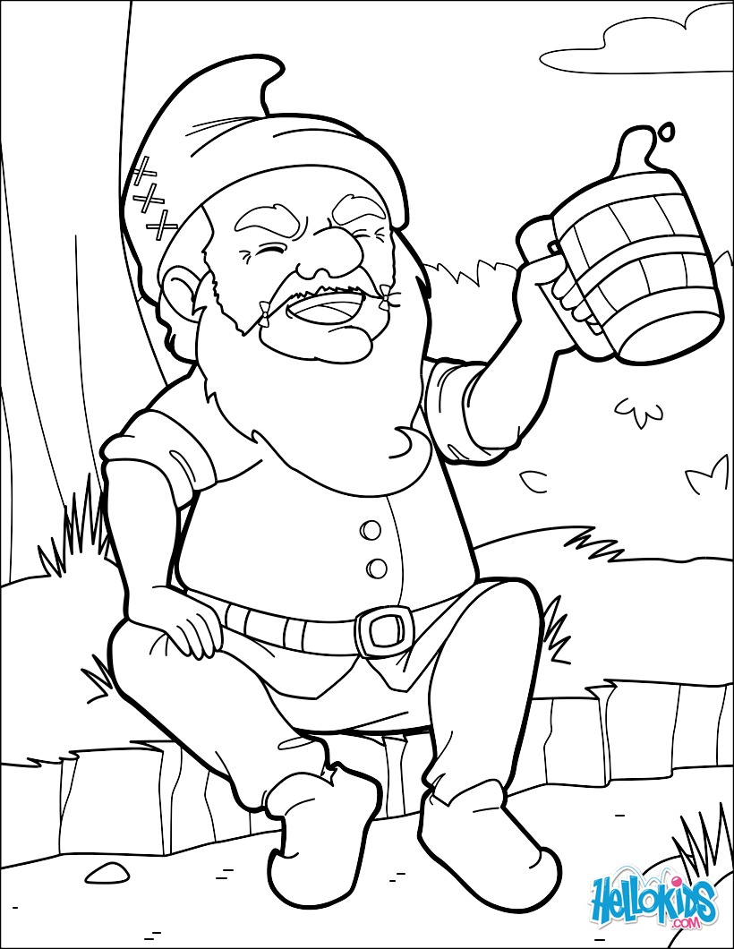 Celebrating Dwarf coloring page