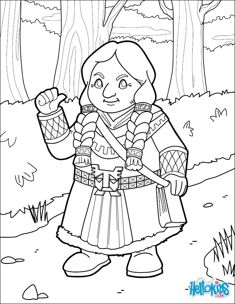 Female Dwarf Traveler coloring page