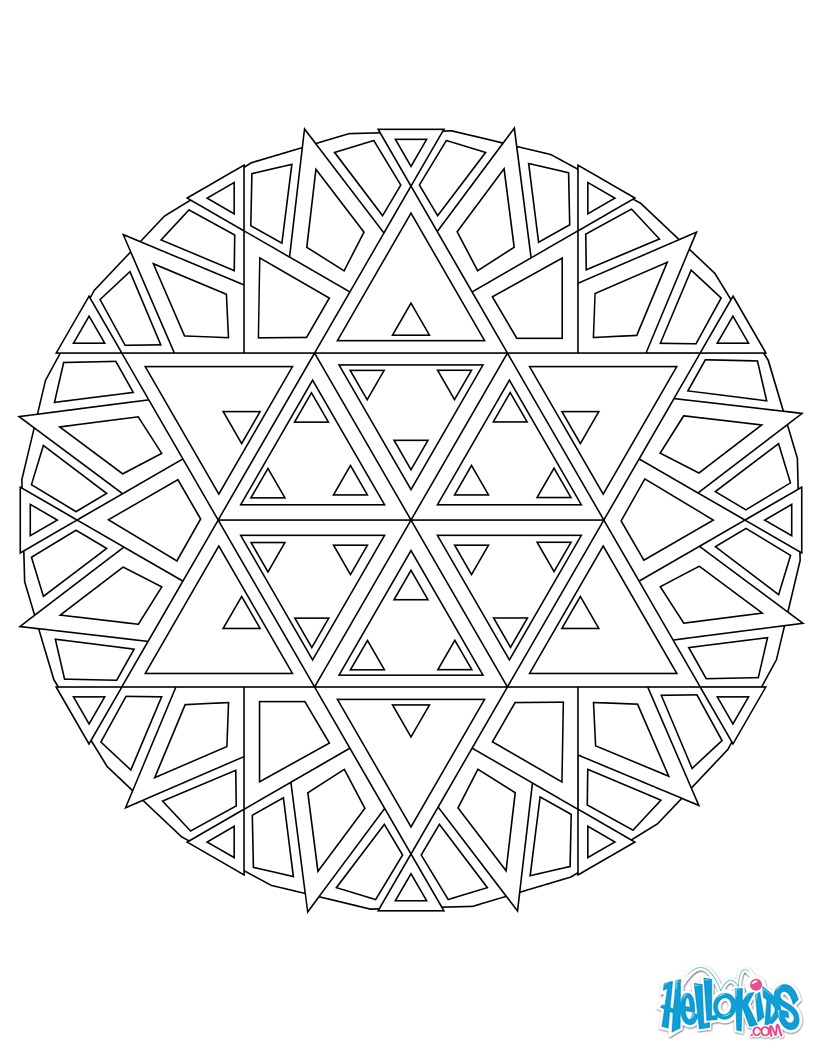 Mandala 03 coloring pages - Hellokids.com