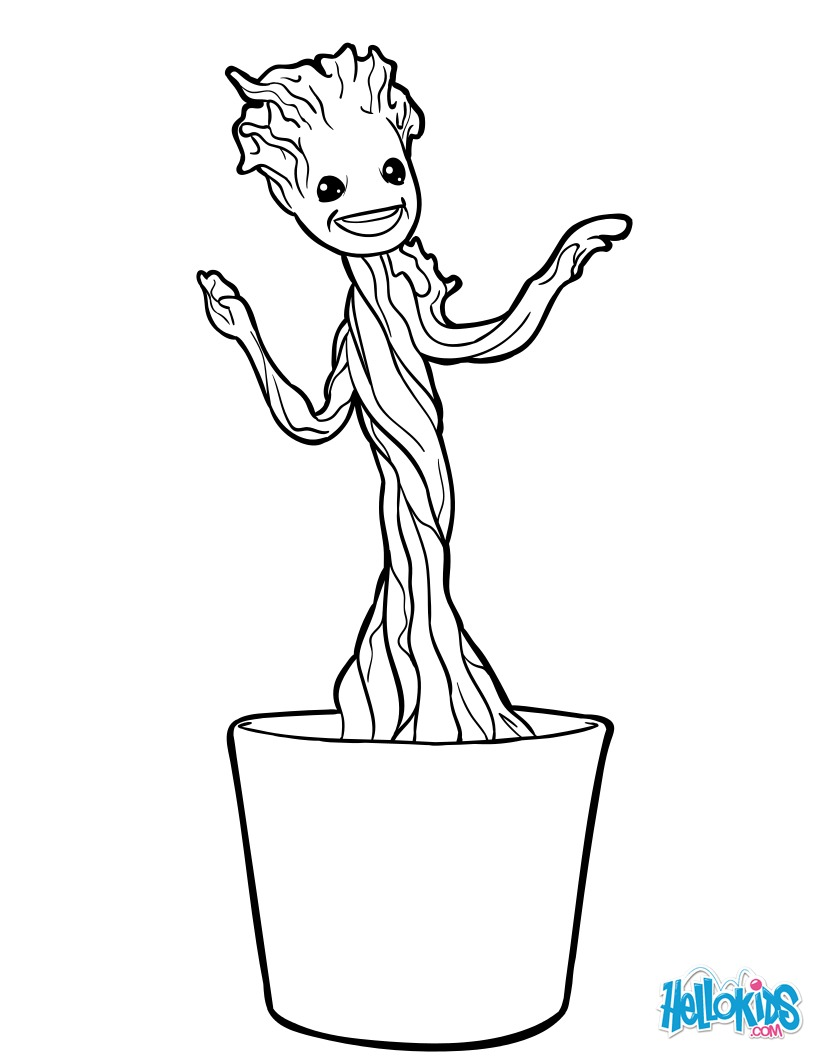 Baby Groot - Free Colouring Pages
