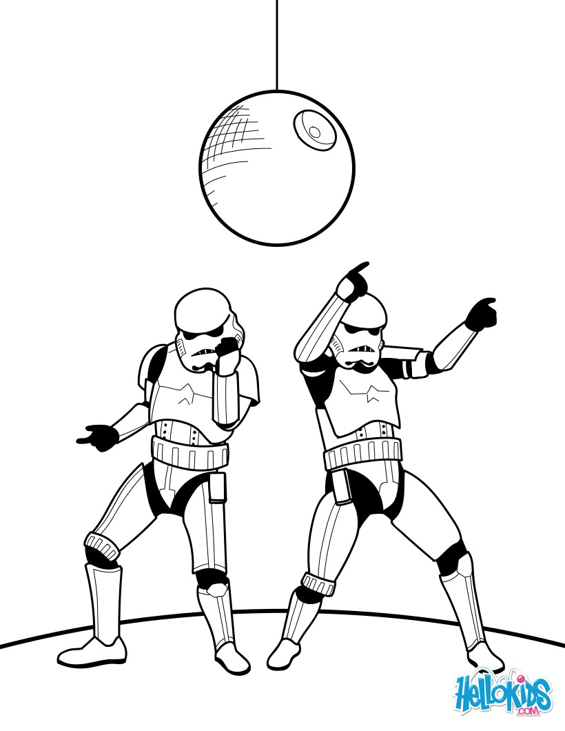 Dancing stormtroopers coloring pages - Hellokids.com