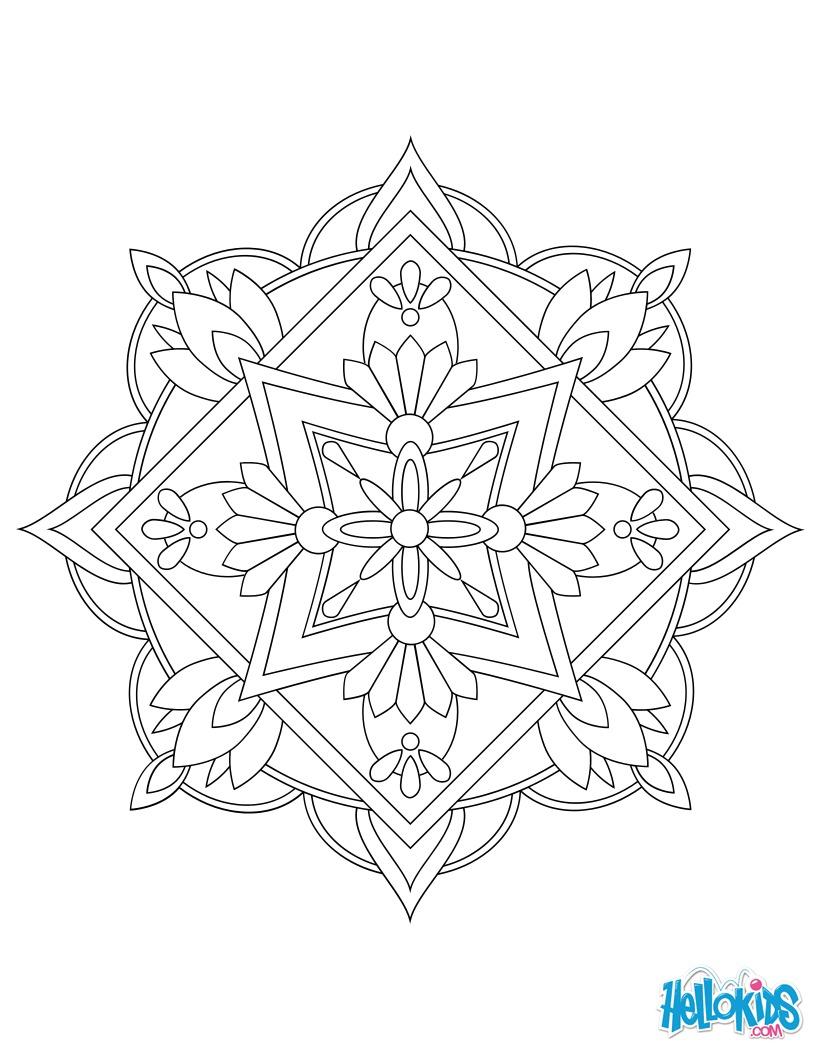 Mandala 06 worksheet