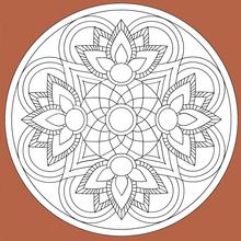 Mandala 07 worksheet