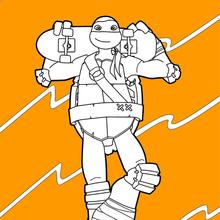 Ninja Turtle coloring page