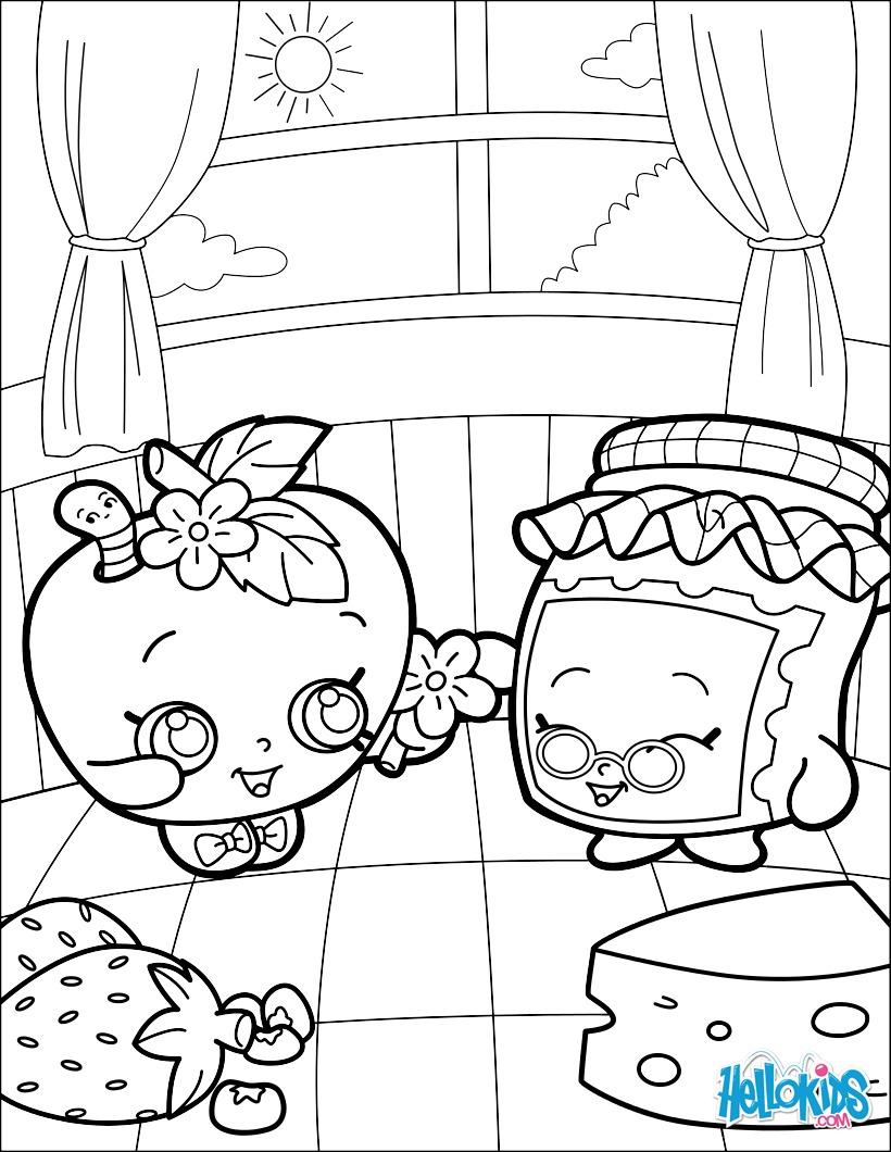 Shopkins - Gran Jam and Appleblossom coloring page