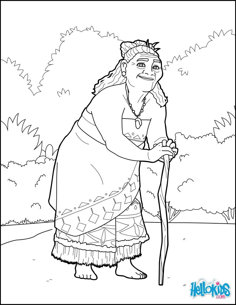 Moana - Tala coloring page