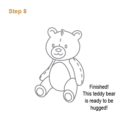 How To Draw How To Draw A Teddy Bear For Kids Hellokids Com