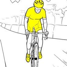 Tour de France coloring page