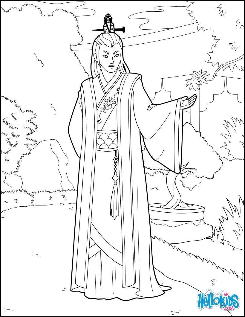 Chinese Prince coloring page