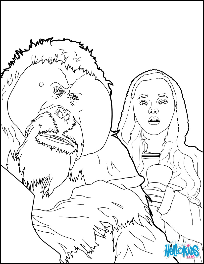 War Apes coloring page