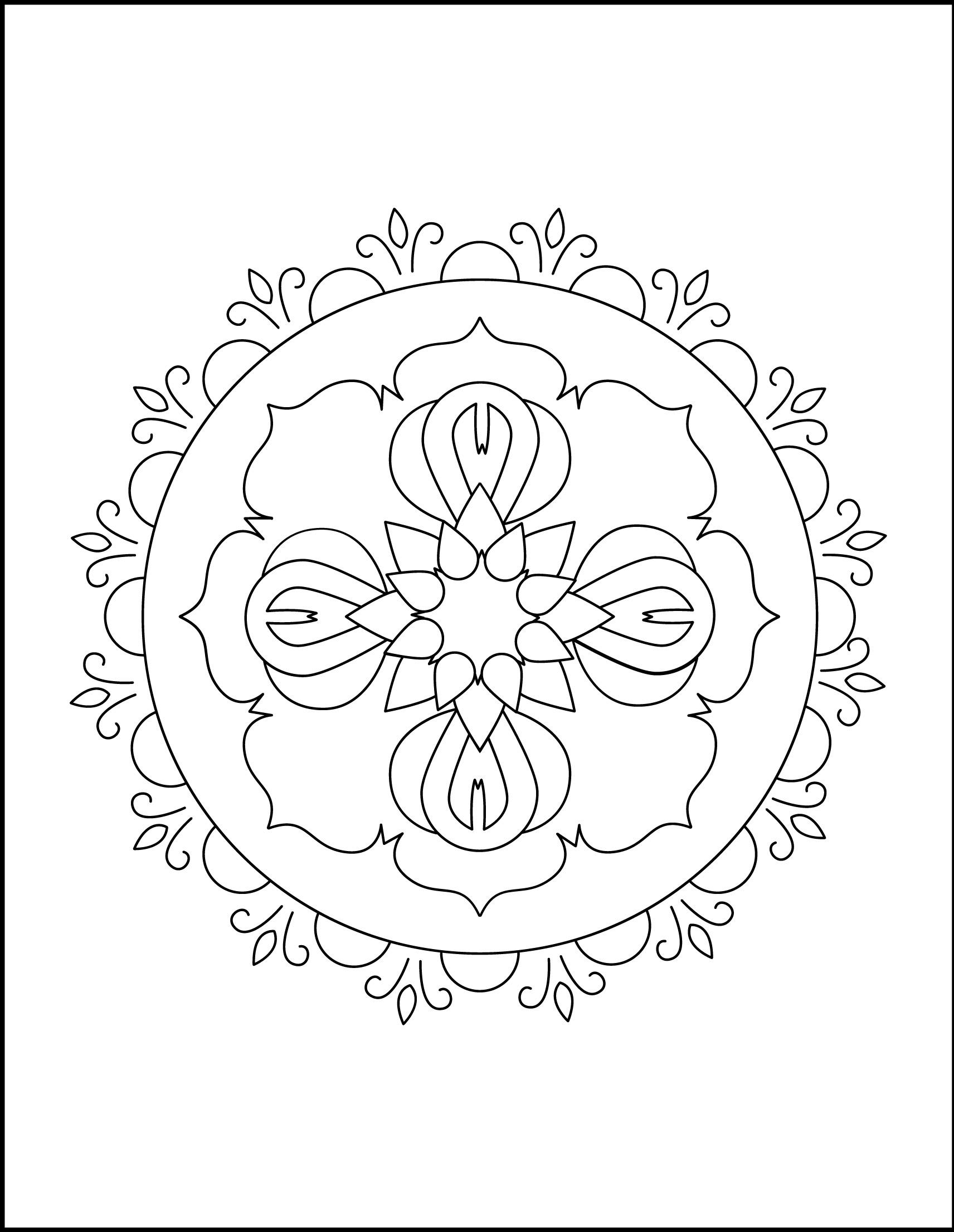 Mandala of Flowers worksheet