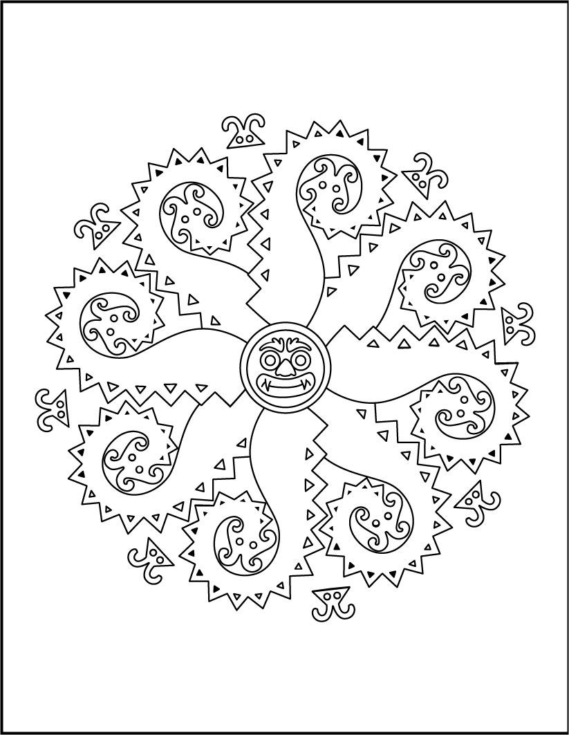 Mandala of monsters worksheet