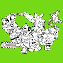 Ninjago - Bad Guys 2 coloring page