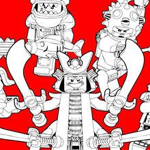 Ninjago - Bad Guys coloring page