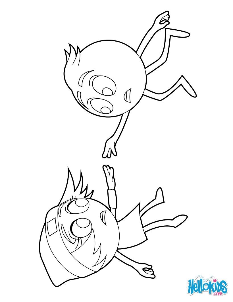 Gene and princess Emoji Linda coloring page