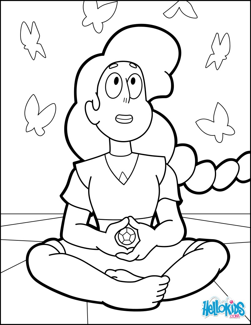 Crystal Gems Steven Universe Coloring Pages Coloring Pages