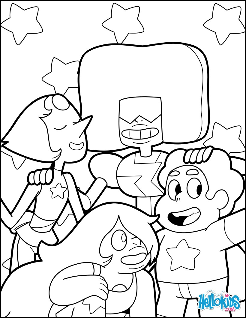 Steven and the Crystal Gems coloring page
