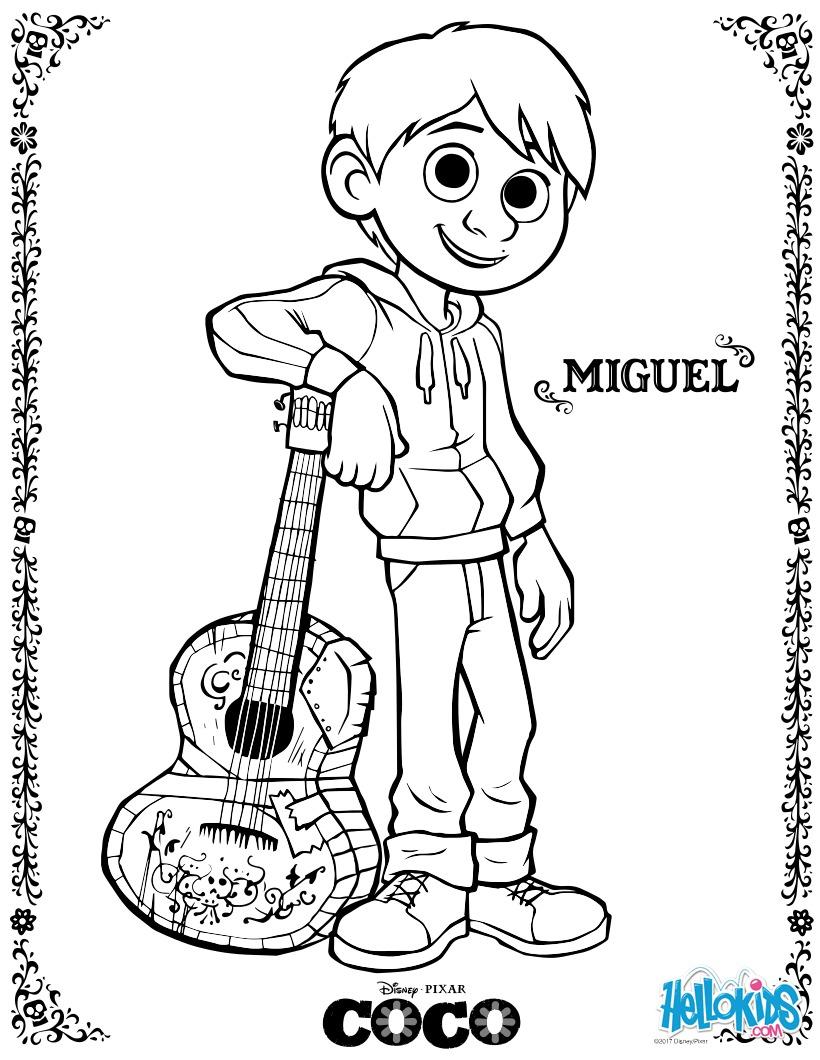 Miguel coloring page