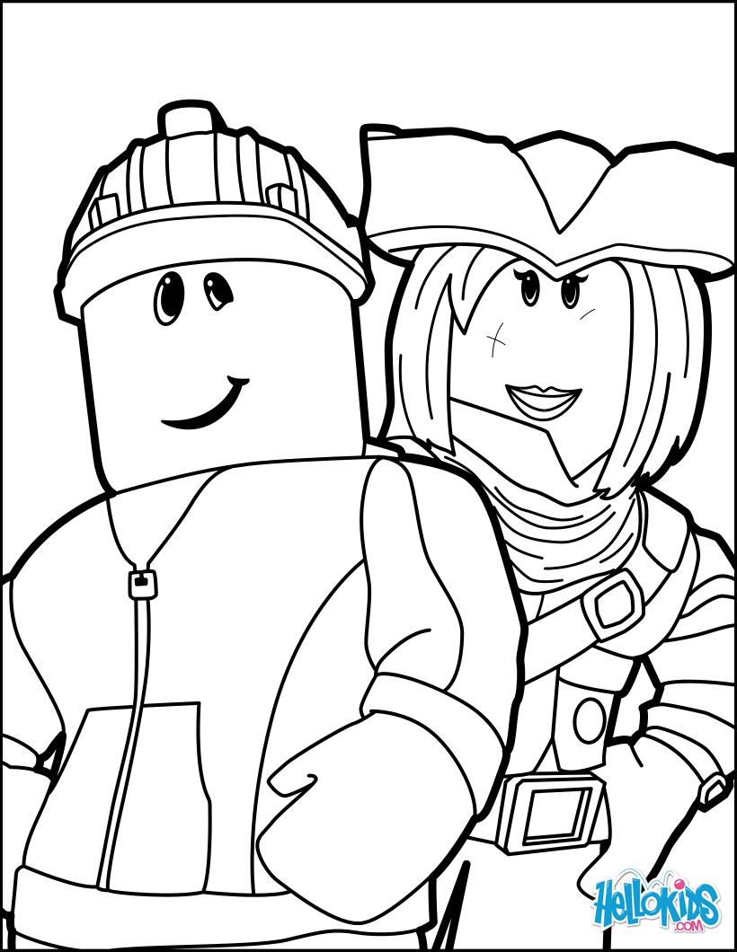 Coloring Pages Roblox : Roblox drawing coloring pages