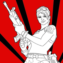 Fortnite 1 coloring page