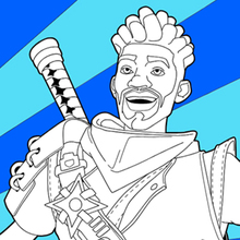 Fortnite 4 coloring page