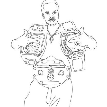 Wwe Sin Cara Coloring Pages Coloring