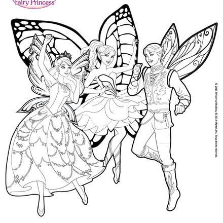Barbie Fairy Secret Coloring Pages Princess Printable