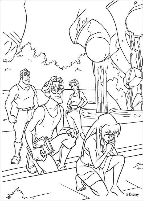 Atlantis 13 Coloring Page