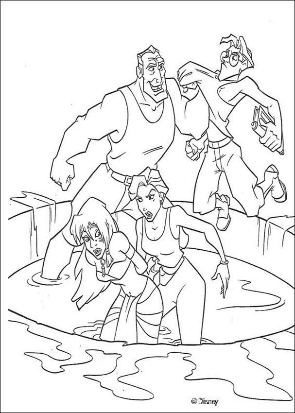 Atlantis 19 coloring page