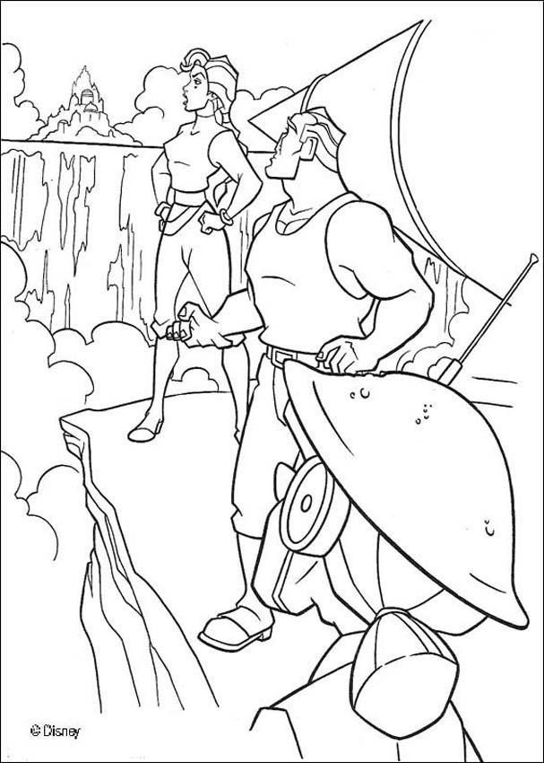 Atlantis 39 coloring page