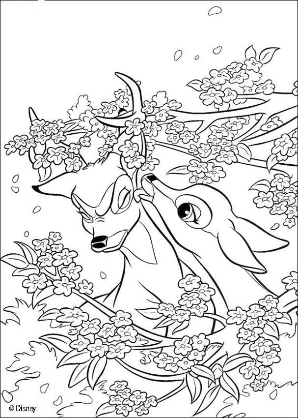 BAMBI coloring pages - 126 free Disney printables for kids to color ...