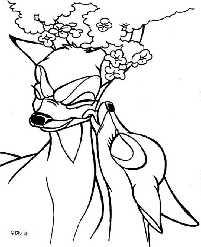 Bambi 75 coloring pages for Coloring pages bambi