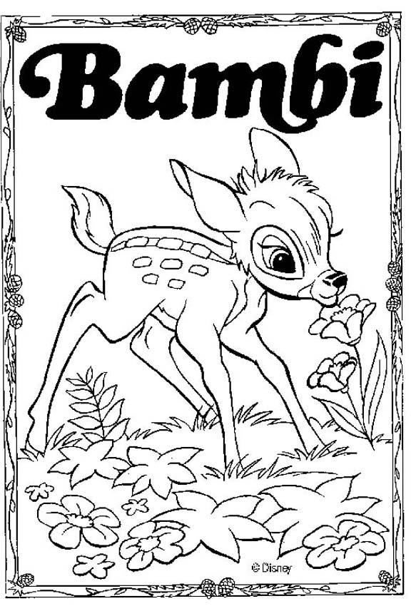 Bambi 60 coloring page