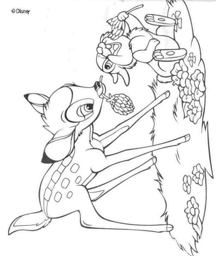 Bambi 59 coloring page