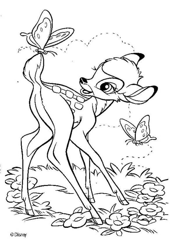 Moderno Dibujos De Bambi Regalo - Dibujos Para Colorear En Línea ...