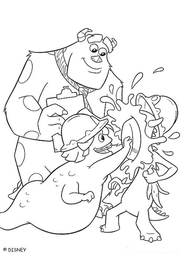 Sulley S Scare Exam Coloring Pages Hellokids Com Sulley Coloring Page